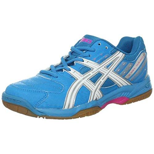 ASICS Women's GEL-Squad Shoe,Ocean Blue/White/Neon Pnk,12 M US
