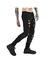 Just No Logo Men's Skinny Hipster Skinny Ripped Gothic Jeans