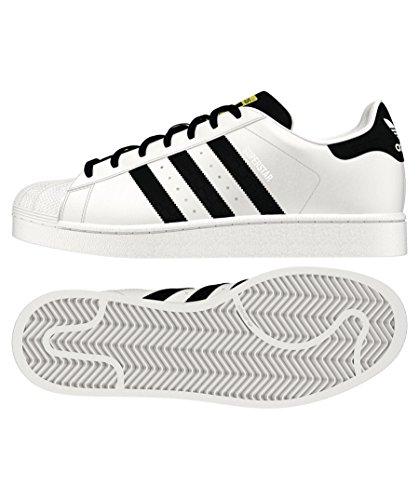 Uomo adidas Basse bianco Ginnastica nero Superstar Scarpe da AqwOzA