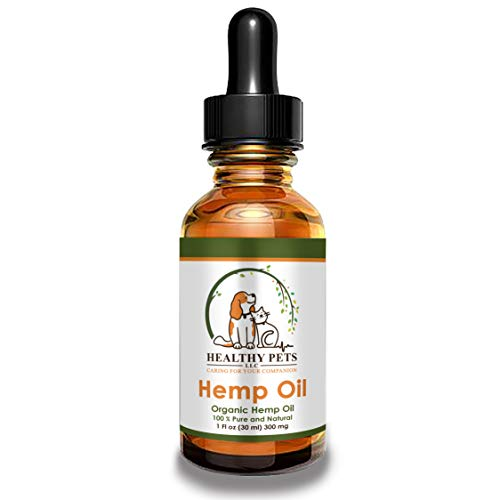 Healthy Pets Hemp Oil for Dogs, Dog Anxiety Relief, Hemp Oil for Pets, Dog Pain Relief, Oil for Dogs, Cat Anxiety Relief, Arthritis Pain, Hip and Joint Pain, USDA Certified Organic