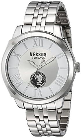 Versus by Versace Men's SOV010015 Chelsea Analog Display Quartz Silver Watch (Gold Versus Watches For Men)