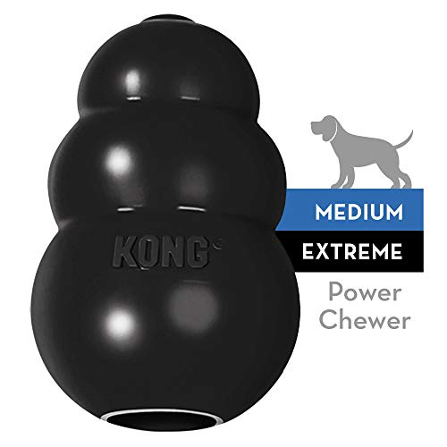 KONG - Extreme Dog Toy - Toughest Natural Rubber, Black - Fun to Chew, Chase and Fetch - for Medium Dogs