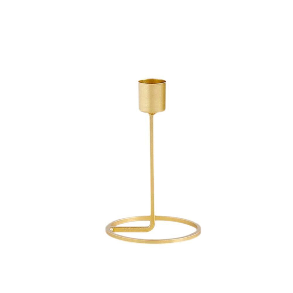 Mesa rom/ántica Paquete de 2 bandejas de Cena Decorativas para Bodas decoraci/ón de Bodas Ingeniously Portavelas de una Sola Cabeza de Oro Adornos para Velas de Cena