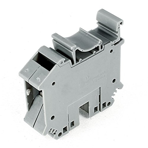 Aexit UIK-35 800V Audio & Video Accessories 125A 35mm 2 Wire Area Screw Clipping Terminal Connectors & Adapters Block Gray -