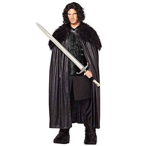 [Game of Thrones Jon Snow Night's Watch Cloak] (Man Of The Nights Watch Costume)