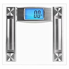 SlimSmart Modern Bathroom Scale with Large Digital Display & Automatic Step-On Start Technology for Tracking Diet & Weight - Maximum Capacity of 400lbs/225kg
