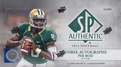 2012 UD SP Authentic Football Hobby Box