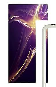 Samsung Galaxy S5 Purple Yellow Abstract Art PC Custom Samsung Galaxy S5 Case Cover White