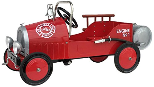 (Morgan Cycle Fire Truck Fire Pedal Car, Red)