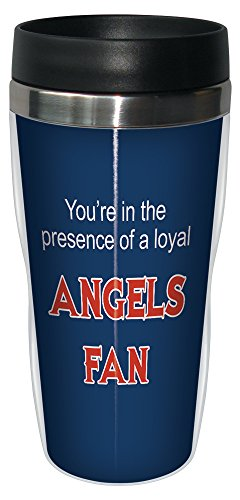Tree-Free Greetings sg24090 Angels Baseball Fan Sip 'N Go Stainless Steel Lined Travel Tumbler, 16-Ounce - Anaheim Angels Tumbler