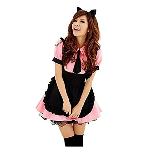 (Marshel [Winter Sale] Kawaii & Lolita Dresses Cosplay Halloween & Christmas Japanese Traditional Maid Costume for Women)