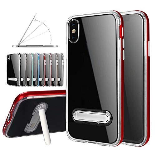 Coquille TM XS XS pour Crystal Transparent Case Max Etui Plating Coloré IPhone Ultra Shock Cover Max Clear Rouge léger IPhone 6 Premium Absorption Poids Silicone Souple Mince Coque TPU 5pouces dSBxtqw7