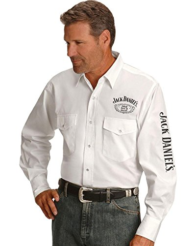 Jack Daniels Men's Daniel's Logo Rodeo Cowboy Shirt for sale  Delivered anywhere in USA