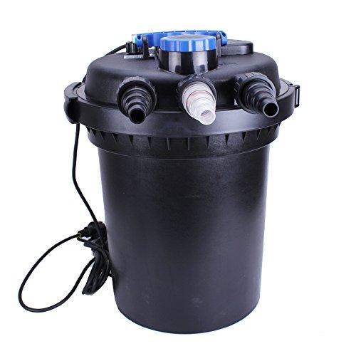 (iMeshbean 3000 Gal Pressure Pond Filter w/ 13W UV Sterilizer Koi Fish Easy Backwash)