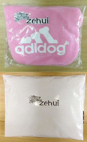 Zehui Pet Dog Cat Sweater Puppy T Shirt Warm Hoodies Coat Clothes, Pink, Medium