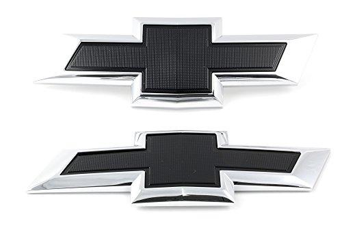 OEM NEW Front & Rear Bow Tie Emblem Set (2) Black 16-17 Malibu 23384199