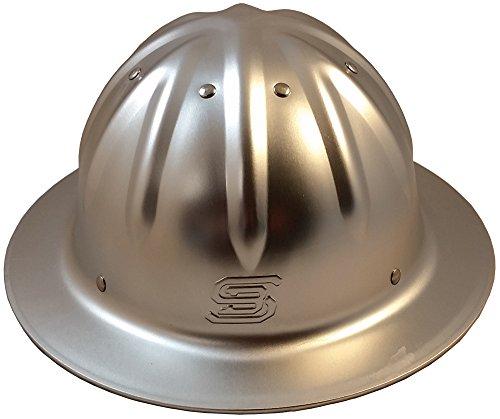 Original SkullBucket Aluminum Hard Hats, Full Brim with Ratchet Suspensions Silver by Skull Bucket (Image #4)