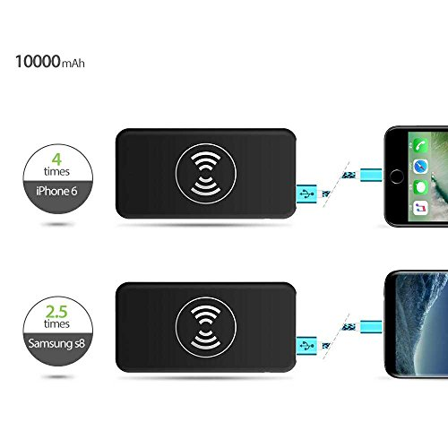 10000mAh handheld ask for power Bank 2 in 1 for iphone and android White External Battery Packs