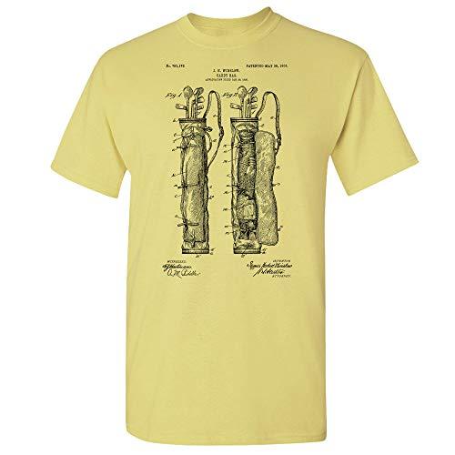 Golf Bag T-Shirt, Golf Gifts, Golf Apparel, Golf Shirt, Golf Caddie Gift, Golfer Gift, Golf Bag Design, Vintage Golf Bag Cornsilk (XL)