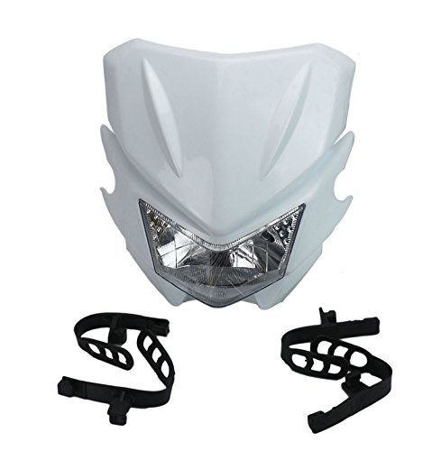 SUCAN Plastic Headlamp For Motorcycle CRF KTM YZ WR KX RMZ DRZ TC TE (White) ()
