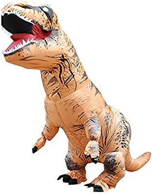 Wawer Dinosaur Disfraz Disfraz Adult T-Rex Hinchable Dinosaur ...