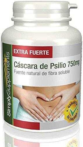 SimplySupplements Cáscara de Psyllium, Fibra para una Buena Digestión y para la Pérdida de Peso, 750mg - 60 Cápsulas: Amazon.es: Salud y cuidado personal