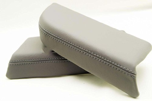 Gray Leather Front Door Panels Armrest Covers Fits 2009-2013 Honda Pilot (Leather Part Only)