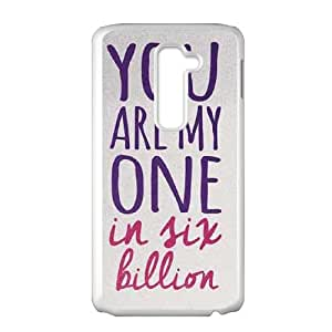 LG G2 Cell Phone Case White One In Six Billion LSO7955625