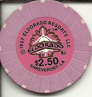 2 50 Eldorado Resorts Casino Shreveport Lousiana Casino Chip Obsolete