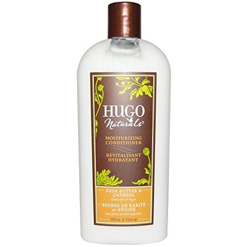 Hugo Naturals, Moisturizing Conditioner, Shea Butter & Oatmeal, 12 fl oz (355 ml) - 2pc
