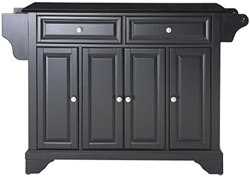 (Crosley Furniture LaFayette Kitchen Island with Solid Black Granite Top -)