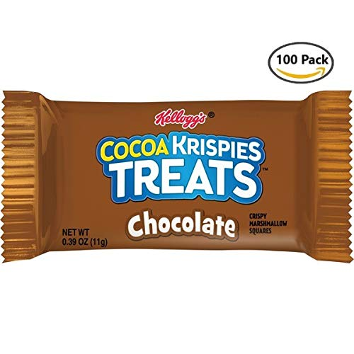 (Kellogg's Cocoa Krispies Treats, Crispy Marshmallow Squares, Chocolate, (Pack of 100, 0.39 oz Bars))