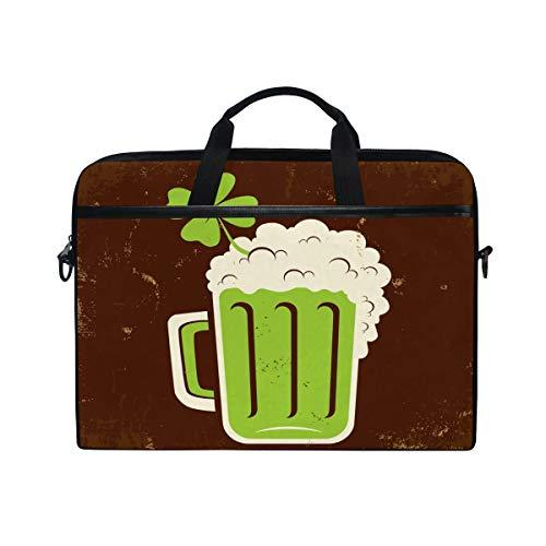 EELa Laptop Shoulder Computer Case Beer Clover MacBook Pro Notebook Case Messenger Bag Briefcase for 15-15.4 Inch ()