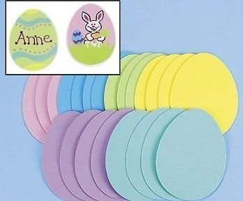 Easter Foam - Jumbo Foam Easter Eggs (24 Pieces Per Package)