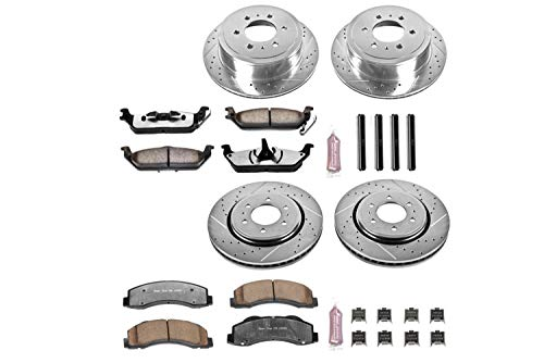 (Power Stop K3166-36 Z36 Truck & Tow Front and Rear Brake Kit)