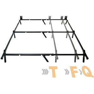 mainstays adjustable metal bed frame recessed legs for added safety - Adjustable Metal Bed Frame