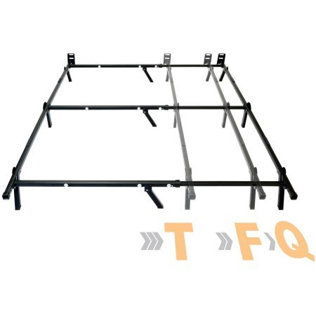 Mainstays Adjustable Metal Bed Frame - Recessed Legs for Added Safety - Edge Premium Headboard Frame