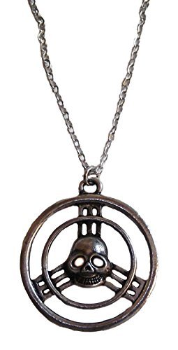 MAD MAX Fury Road Skull Steering Wheel Pewter Finish PENDANT