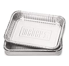 Foil liners for grease catch pan. The inside dimensions of the pan are 7 ½ inch by 5 inch by 1 ¼ inch. The outside of the dimensions are 8 ¾ inch by 6 inch by 1 ½ inch. The drip pans fit Weber Q grills, Spirit gas grills, Genesis gas grills, ...