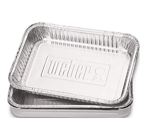 (Weber 6415 Small 7-1/2-Inch-by-5-inch Aluminum Drip Pans, Set of 10)