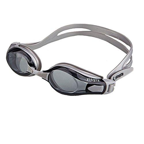 Women Trasparente Indoor Outdoor e da Lente impermeabile Swim Adulto Goggle con Frame Occhialini Large Fitness Uomini SYXSN UV per protezione Nebbia gray Nero nuoto Anti xqUTO1x