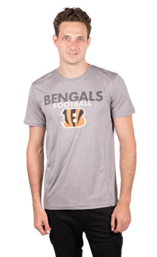 NFL Cincinnati Bengals Men's T-Shirt Athletic Quick Dry Active Tee Shirt, Medium, Gray
