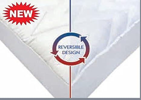 Amazon.com: Deluxe colchón Pads para todo el año. Reversible ...