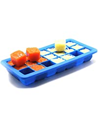 Purchase 21 Cavities Square Shaped Silicone Container Freezer Tray Baby Food Storage (Green) cheapest