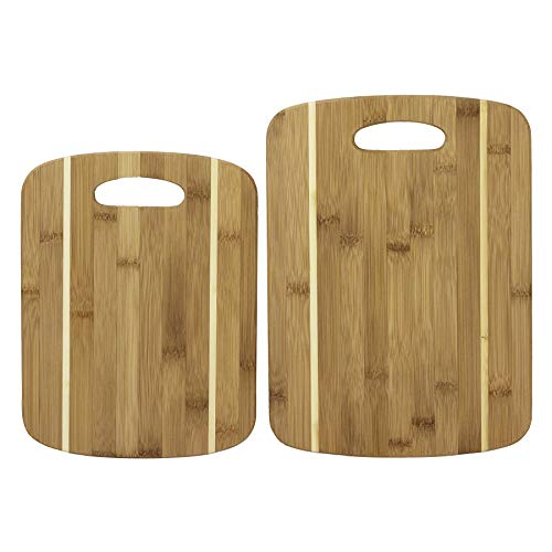 Boards Striped Bamboo - 2 Piece Striped Bamboo Cutting Board Set