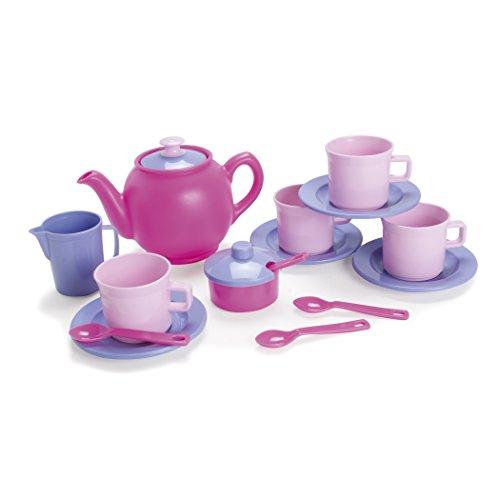 Dantoy AEPDT4398 Tea Set, Pastel Colors (Pack of 17)