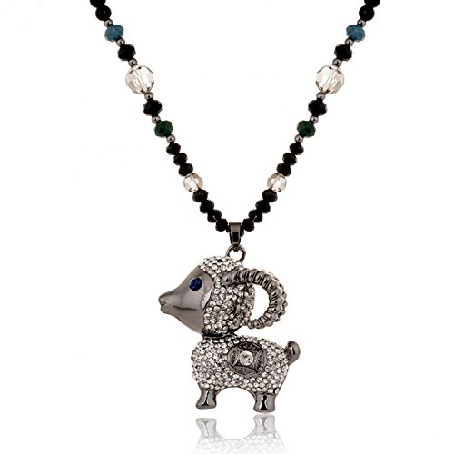 The latest in 2015 the year of the sheep sweater chain accessories of high-grade alloy diamond sheep Pendant Necklace long sweater chain
