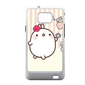 Generic Cute Phone Cases For Girls Printing Molang Rabbit For Samsung Galaxy S2 I9100 Choose Design 4