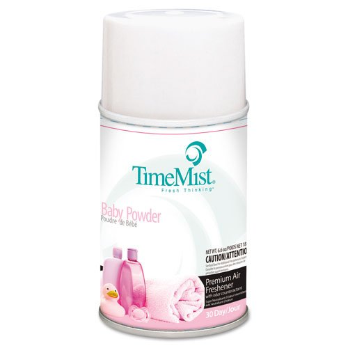 TimeMist Metered Fragrance Dispenser Refills, Baby Powder, 5.3oz - Includes 12 per case. by Timemist
