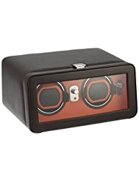 WOLF Unisex 452606 Windsor Double Watch Winder with Cover, Brown